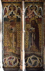 rood screen (south): St James and St Simon (15th Century)