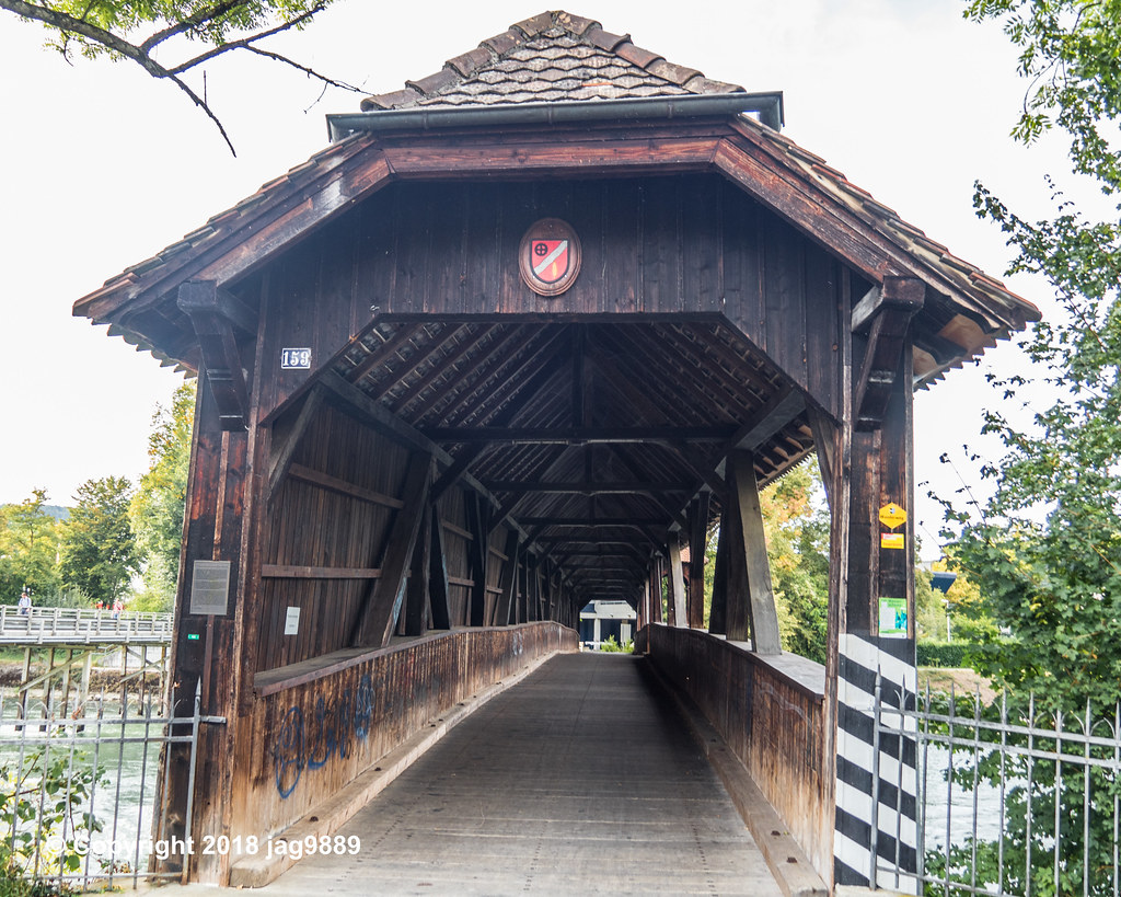 Lim730 Limmatweg Covered Wooden Bridge Over The Limmat Riv Flickr
