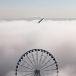 Image de Seattle Great Wheel. clouds seattle washington unitedstates us canon pnw cascadia ferris ferriswheel greatwheel fog elliottbay pugetsound wa usa pacificnorthwest