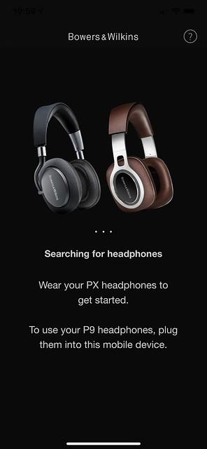 Bowers & Wilkins Headphones iOS App - Setup #1