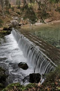 Waterfall at Velika Planina, Slovenia.