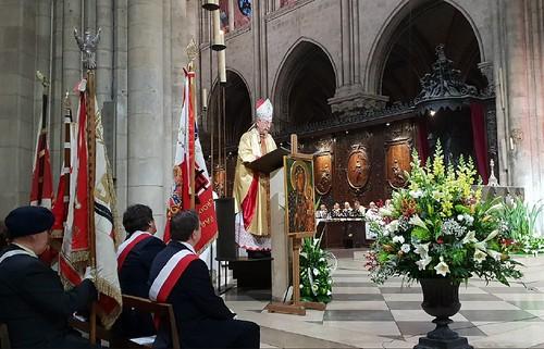 Obchody stulecia odzyskania niepodległości Polski w katedrze Notre-Dame, Paryż, 1.12.2018