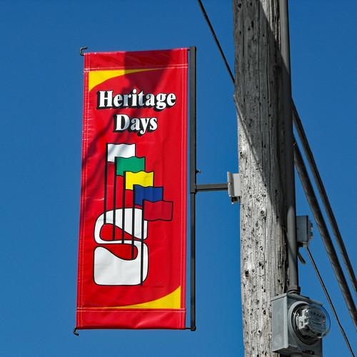 Stratford Heritage Days Festival Banner.