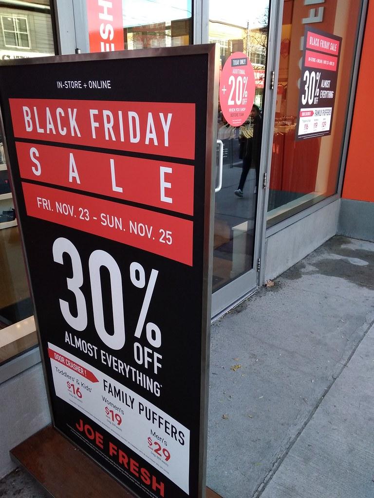 Joe Fresh Black Friday Sale