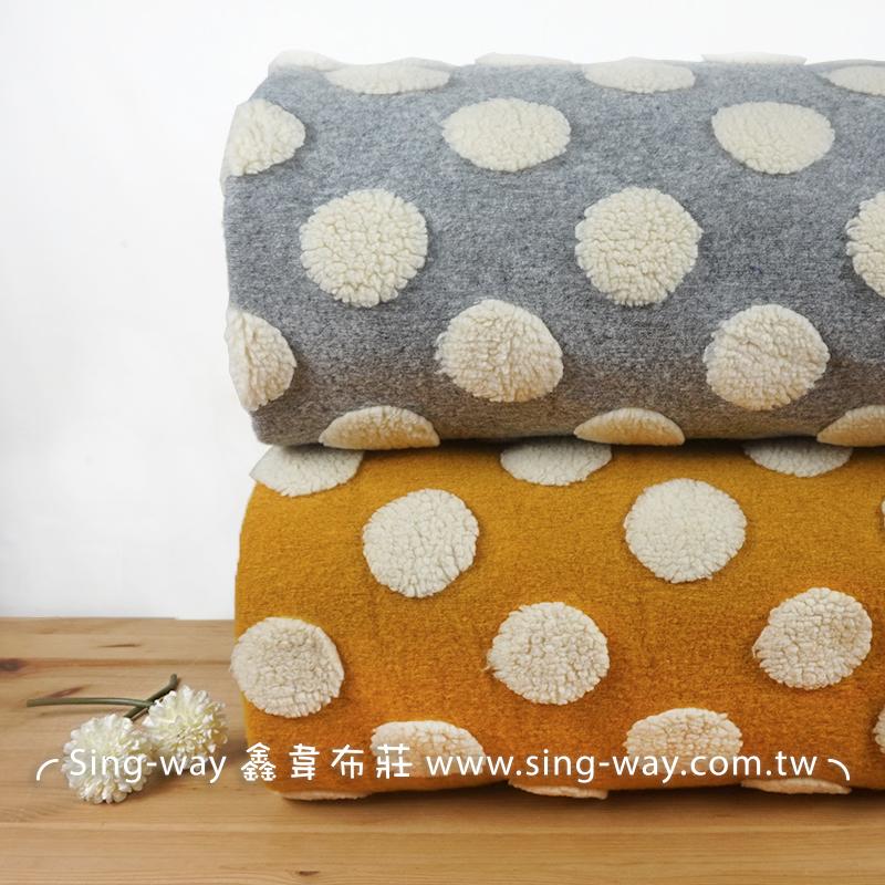 【限宅配】圓餅 圓圈 白玉 圓點圖案 大點點 絨毛 櫥窗飾品佈置 玩偶 K1690020