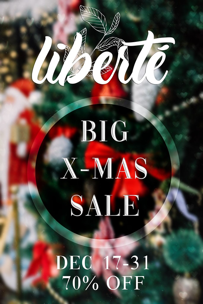 liberté Big X-MAS Sale 70% OFF!