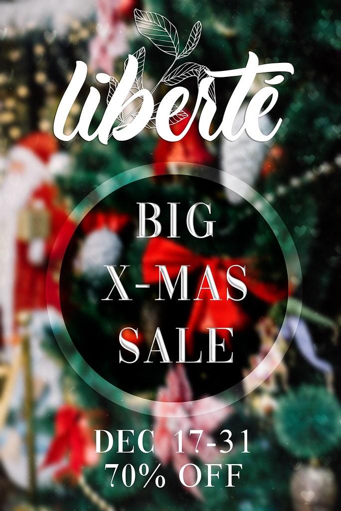liberté Big X-MAS Sale 70% OFF! - TeleportHub.com Live!