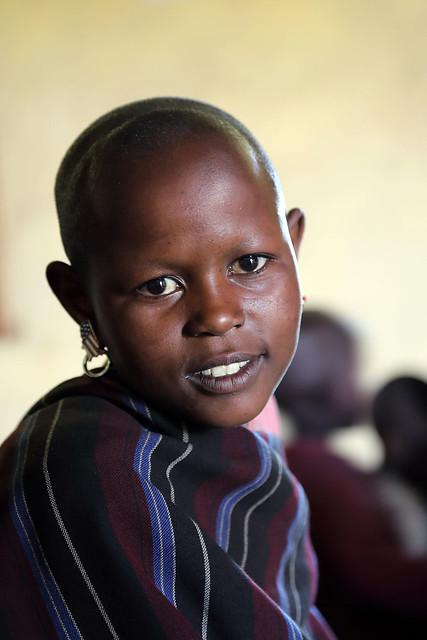 Maasai schoolgirl