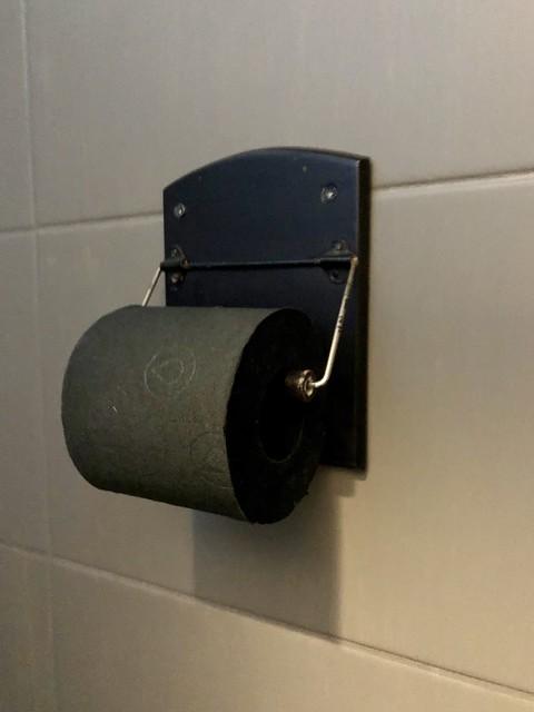 Zwart wc papier toilet landelijk sober