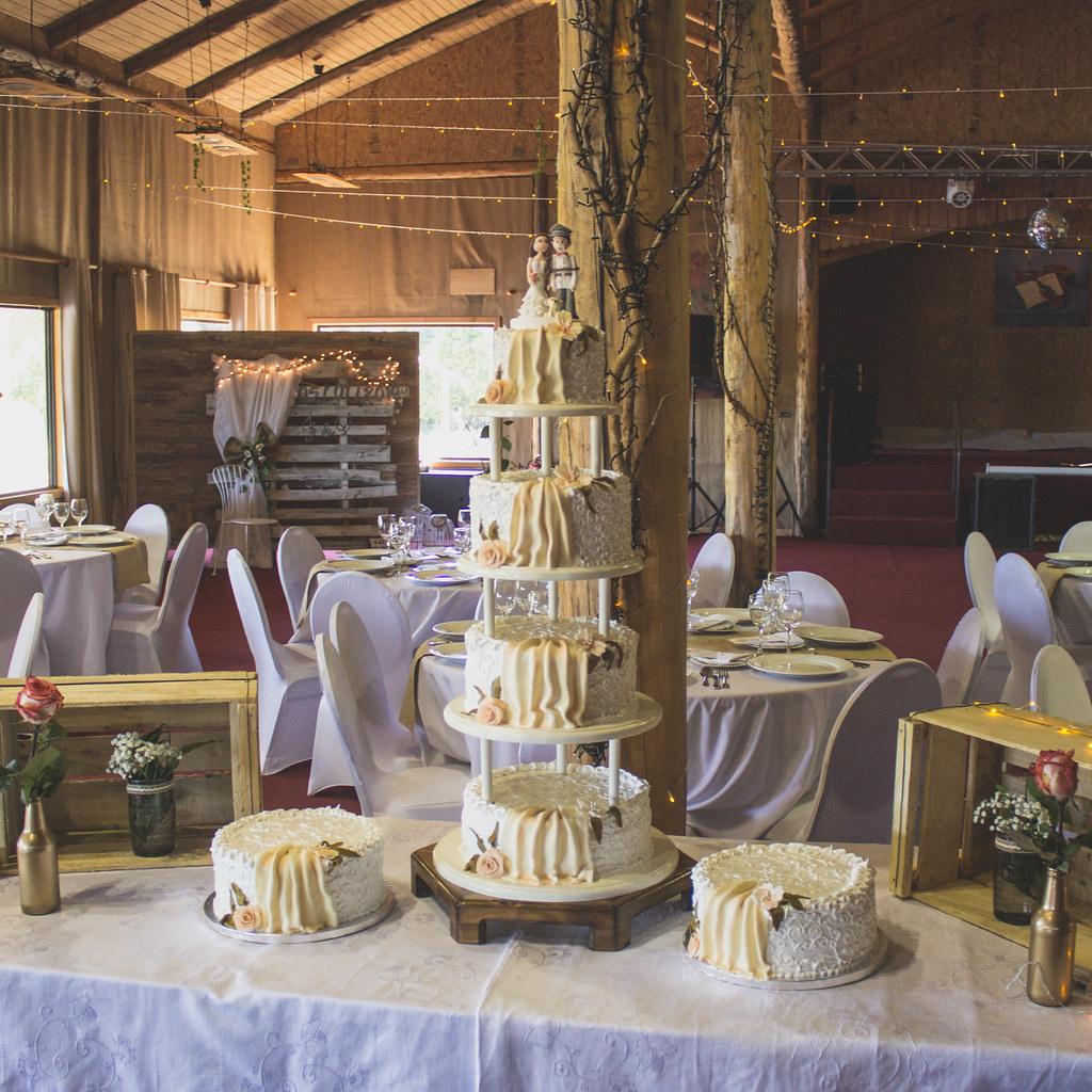 Traditional German Wedding Cake Ensemble
