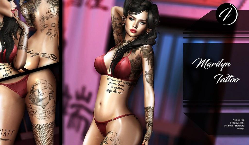 ..:: INker ::.. Marilyn Tattoo - TeleportHub.com Live!
