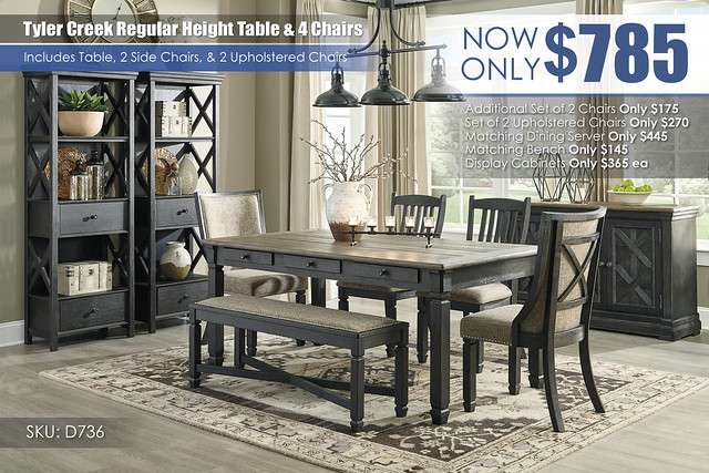 Tyler Creek Regular Dining Set D736-25-01(2)-02(2)-00-76(2)-60_update