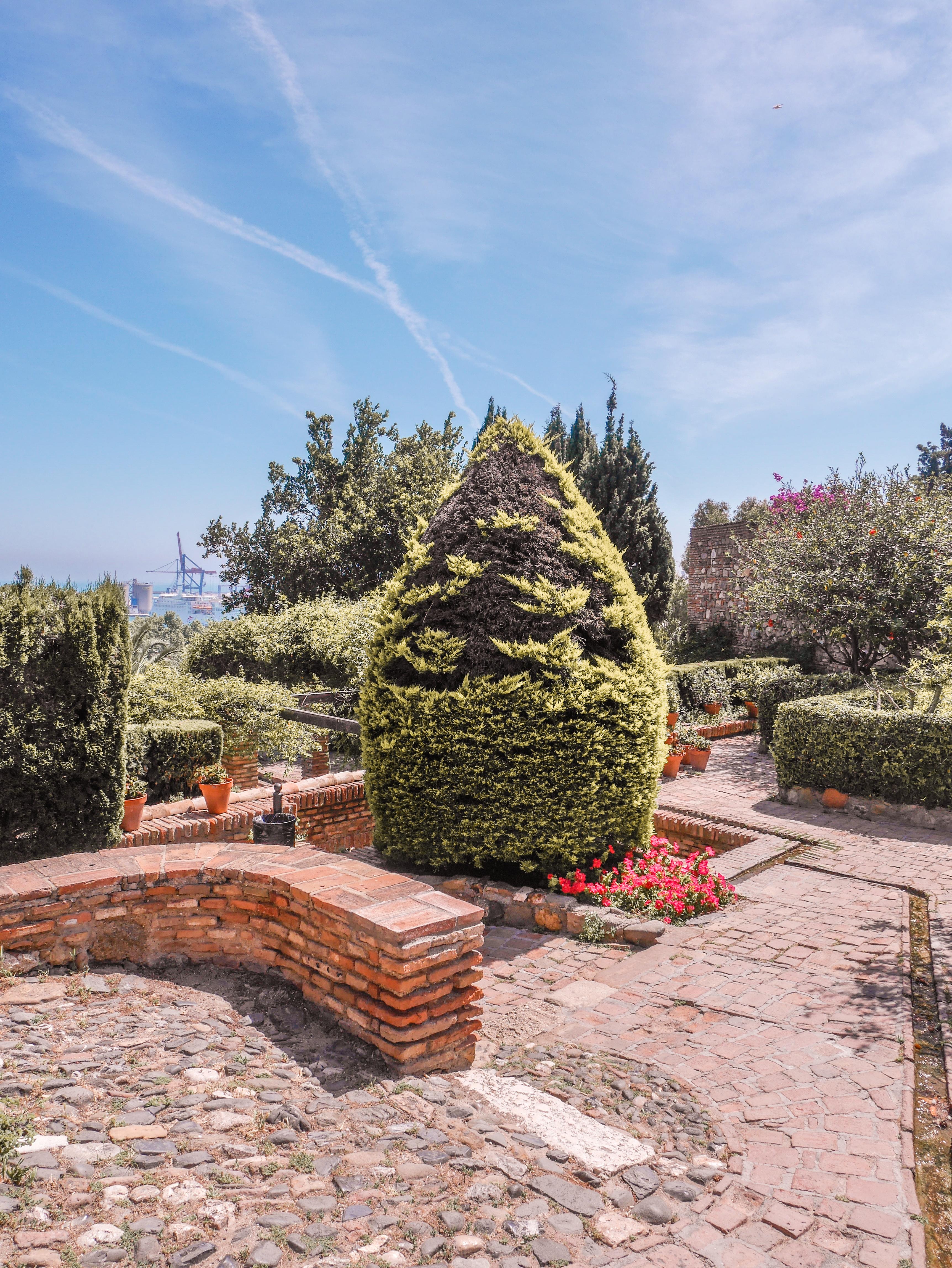 Alcazaba puutarha