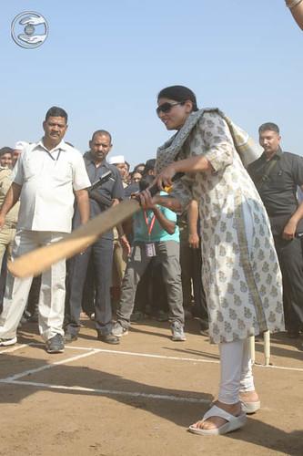 Blessings by Satguru Mata Ji at Cricket Ground