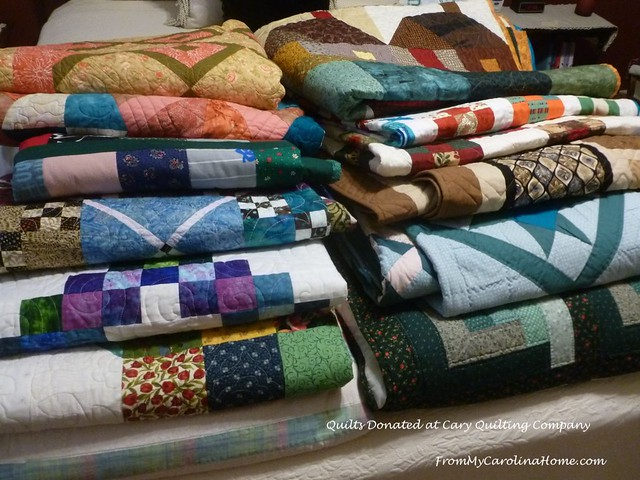 Quilts Donated at Cary Quilting Co