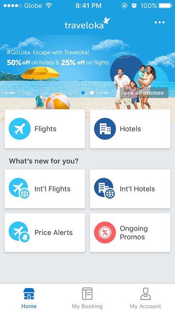 Traveloka App Home Page Screen
