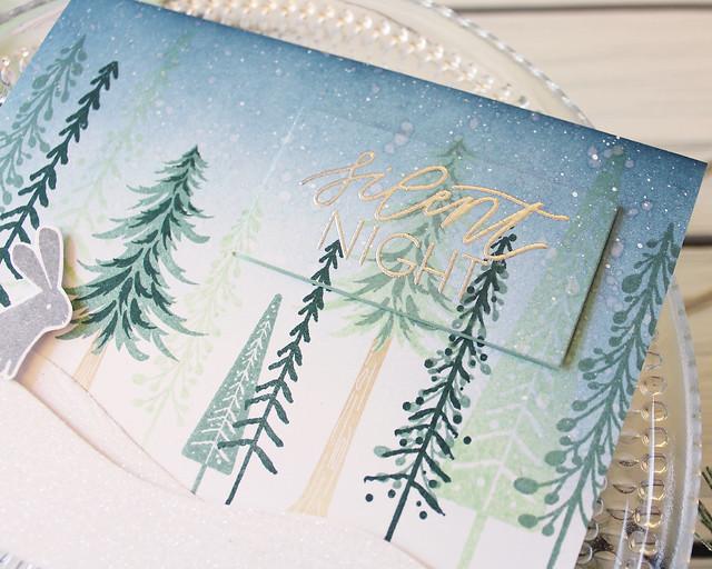 LizzieJones_PapertreyInk_November2018_EnchantedForest_SilentNightCard3