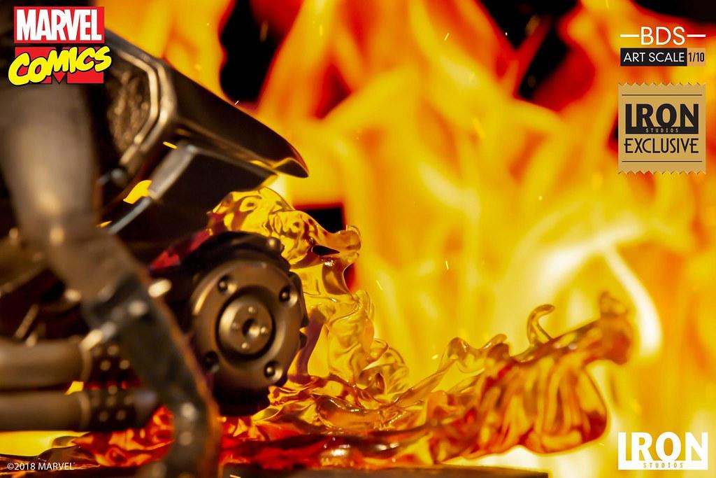 不法之徒啊,化成死灰吧!! Iron Studios Battle Diorama 系列 Marvel Comics【惡靈戰警】Ghost Rider 1/10 比例決鬥場景雕像作品