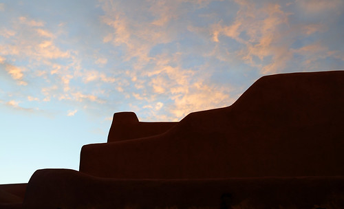 architecture art beauty bright building colorful colourful colors colours contrast dark design detail downtown edge light lines minimalism perspective pattern pretty scene sky southwest study street texture tone world adobe stucco sunset cloud santafe newmexico