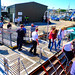 Scotland West Highlands Kintyre passengers boarding the paddle steamer Waverley at Campbeltown 24 June 2018 by Anne MacKay by Anne MacKay images of interest & wonder