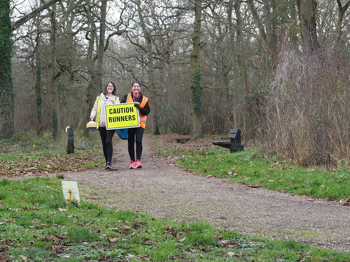 Linford Wood park run New years day 2019