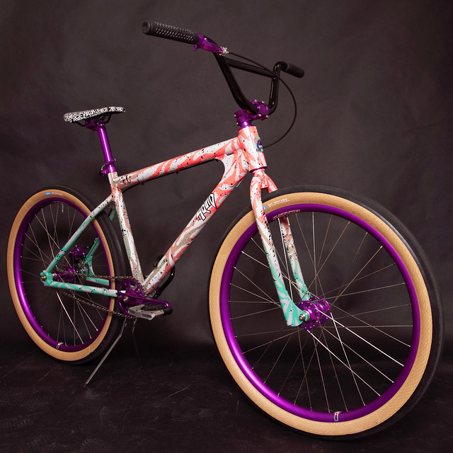 Squid Bikes / Swamp's  Purple-ano Shred to Ed's cruiser