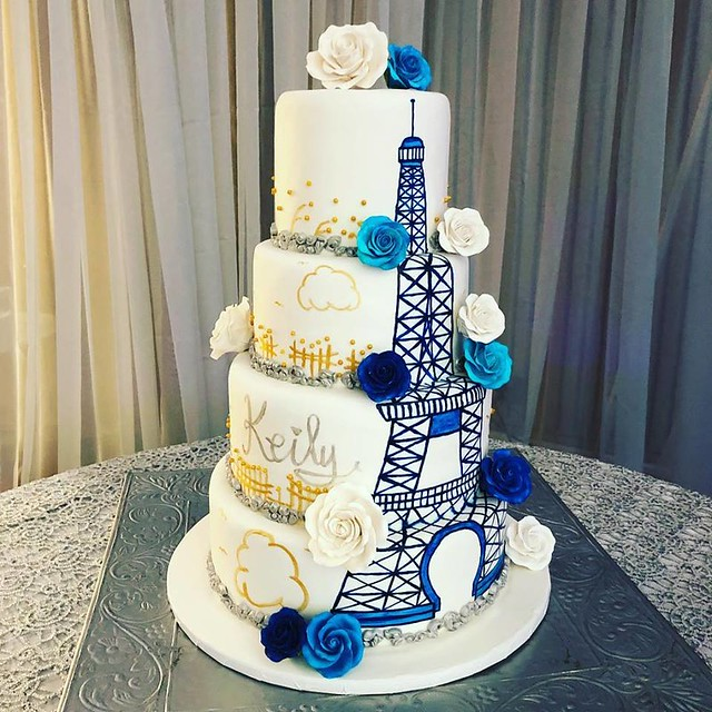 Eiffel Tower Cake by Sweet Dreams