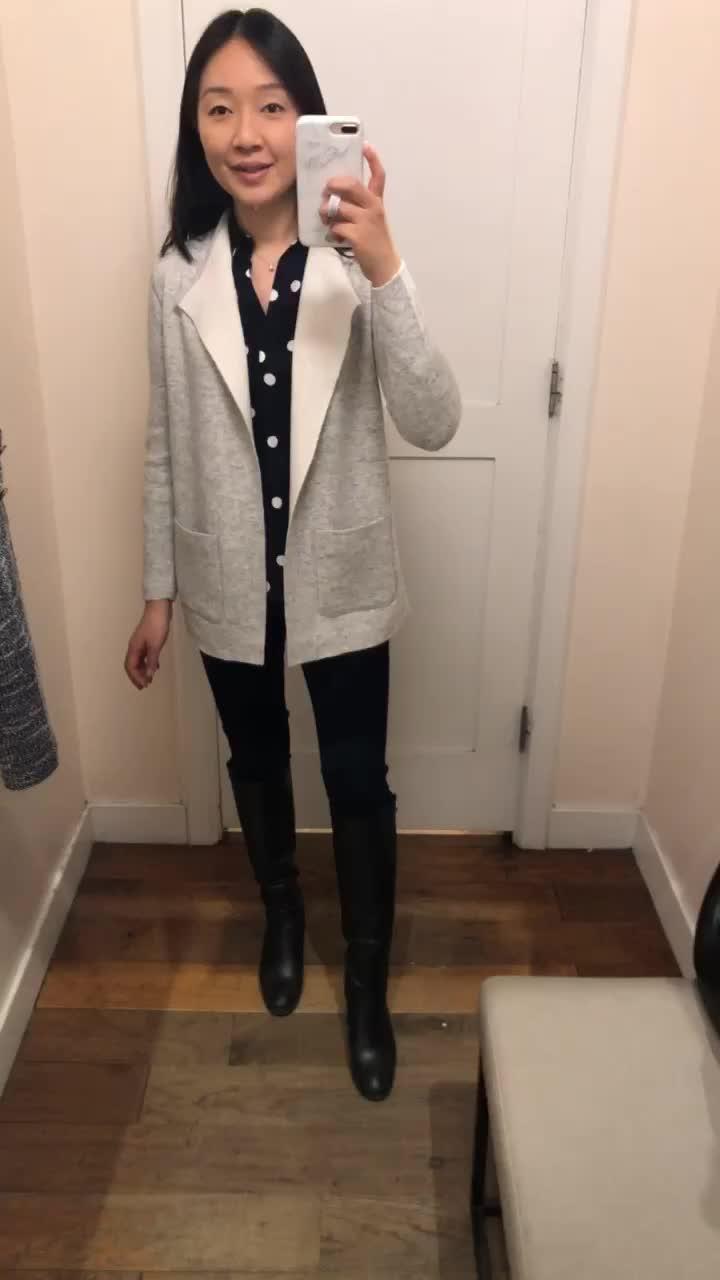 LOFT Reversible Open Sweater Jacket, size XSP