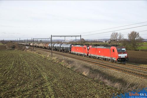 186 338+340 DB Cargo . E 47061 . Warsage .18.12.18.