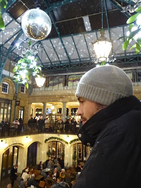 sur le balcon de Covent Garden