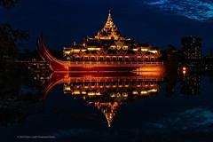 The Karaweik Palace . . .. #karaweikpalacerestaurant #karaweikpalace #kandawgyilake #kandawgyipark #nightshot #yangonmyanmar #yangon #myanmar #instamyanmar #visitmyanmar #myanmartrip #triptoasia #discoveryphototours #chrislord #chrislordnyc #pixielatedpix