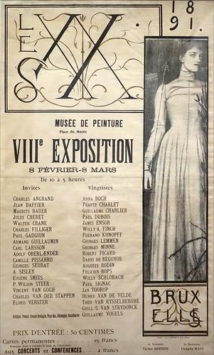 Affiche de Fernand Khnopff (Petit Palais, Paris)