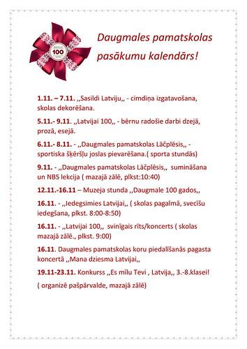 Pasākumu kalendārs novembrim-1