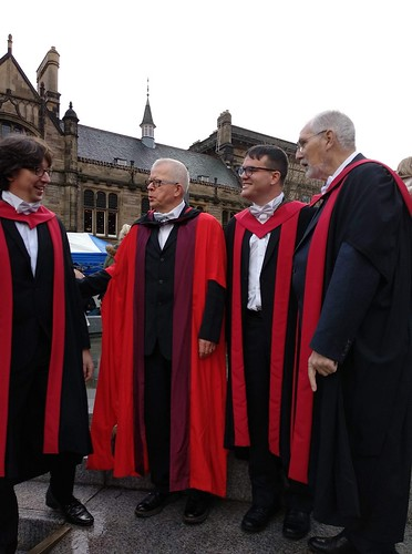 Graduation, McEwan Hall - Son with supervisors
