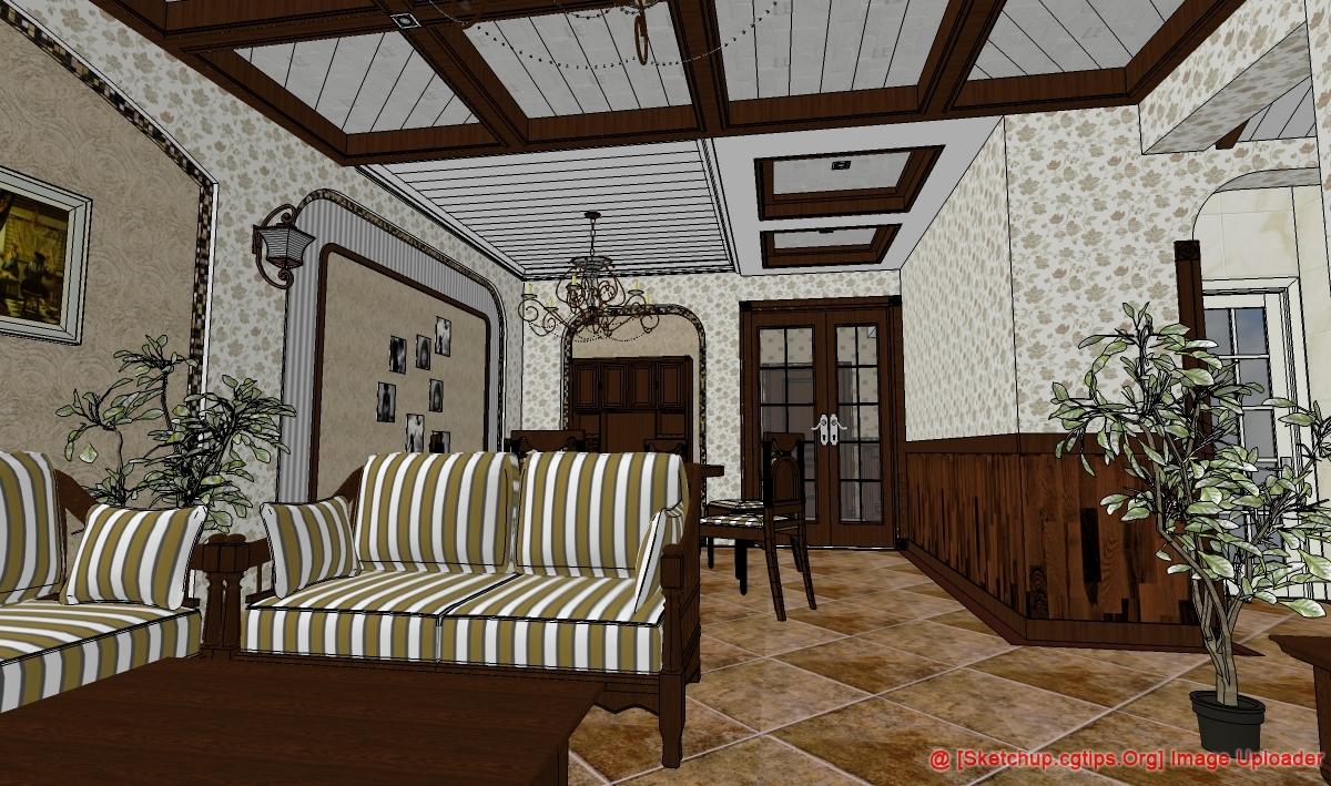 1259 Interior Restaurant Sketchup Model Free Download Part3