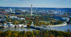 Washington DC viewed from Observation Deck at CEB Tower Rosslyn VA