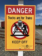 Tracks are for trains... not dancing.