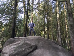 Looking out from atop a giant boulder