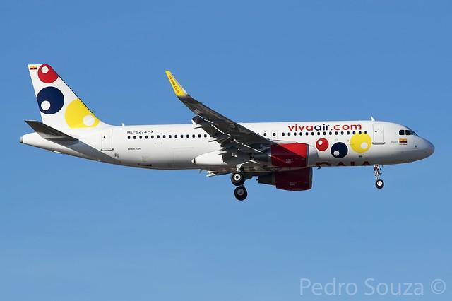 "HK-5274-X Airbus A320-214(SL) Viva Air Colombia ""Bogotá"""