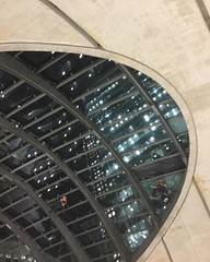 Abseilers at Canary Wharf station (not sure if they were cleaning or fixing ) #London