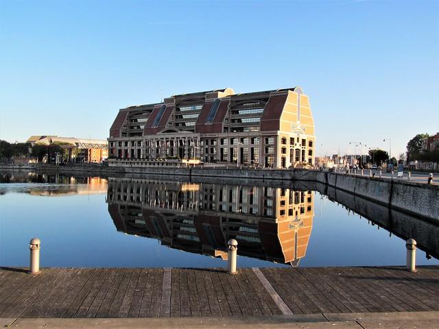 Reflection, Dunkirk Harbour., Canon POWERSHOT SX150 IS
