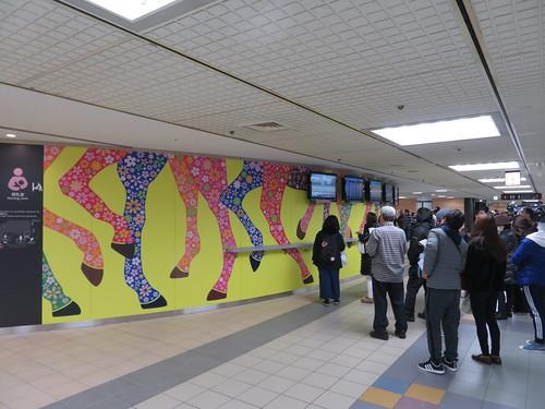 中山競馬場の壁面