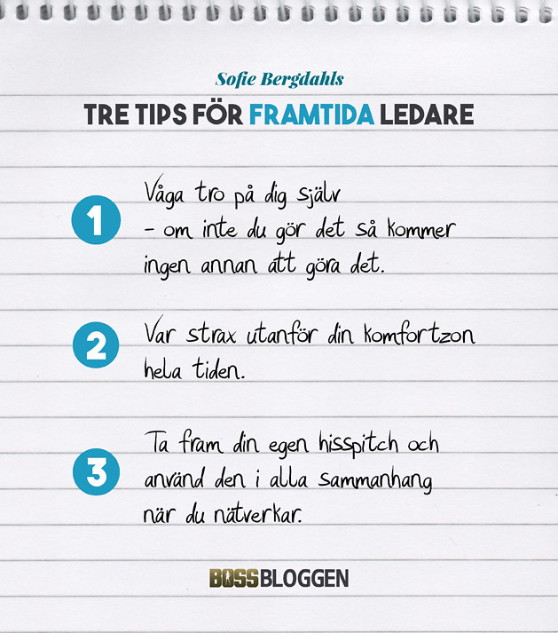 Sofie Bergdahl Tre Tips