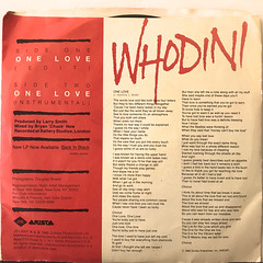 WHODINI:ONE LOVE(JACKET B)