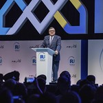 Jose Manuel Barroso during Plenary session 1 at IRU World Congress