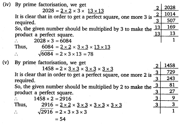 NCERT Solutions for Class 8 Maths Chapter 6 Squares and Square Roots 10