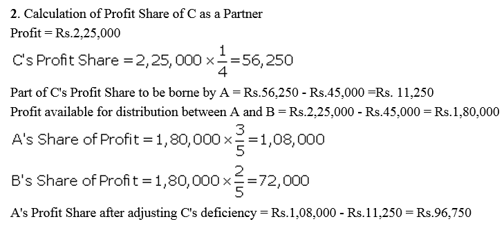 TS Grewal Accountancy Class 12 Solutions Chapter 1 Accounting for Partnership Firms - Fundamentals Q87.1