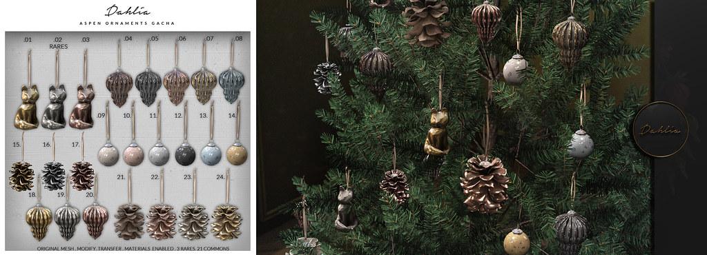 Dahlia – Aspen – Ornaments