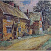 England. Painting of the Red Lion Inn, Kilsby, Northamptonshire, England - circa 1800's. Artist Unknown.
