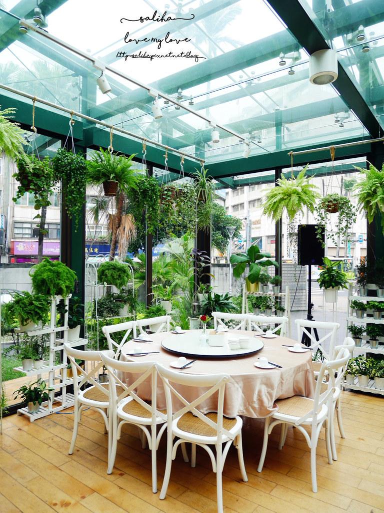 台北古亭站附近絕美玻璃屋植物系浪漫約會餐廳推薦陸聯廳 (1)